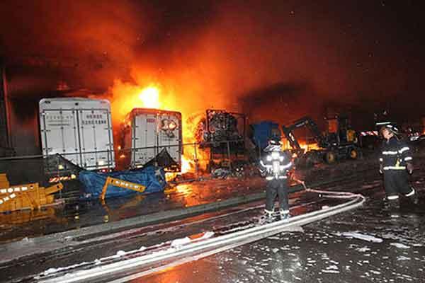 kosakata bahasa korea kecelakaan kerja kebakaran image