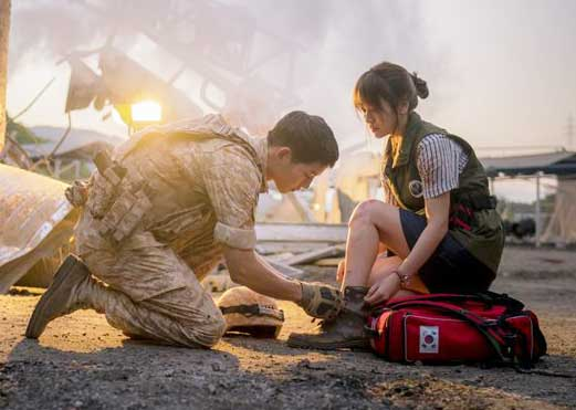 quiz tebak gambar scene romantis drama korea Descendants of The Sun jpg