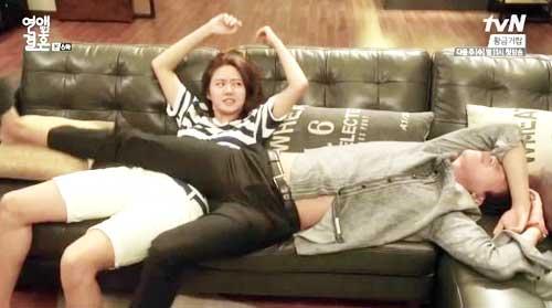Tebak Gambar: Adegan Lucu Drama Korea - adegan lucu Marriage Not Dating kdrama image