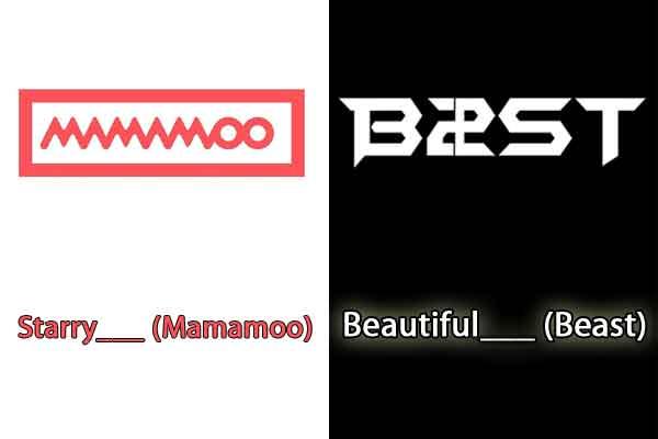 Permainan Tebak 1 Kata Judul Lagu Korea Populer - judul lagu kpop korea mamamoo beast image