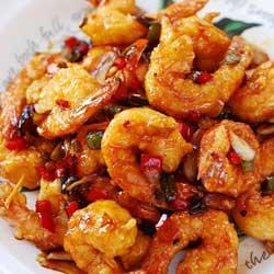 makanan seafood korea udang kkanpung saeu jpg