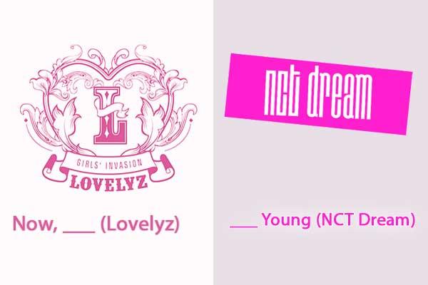 quiz kpop lagu korea logo nct dream lovelyz wallpaper img