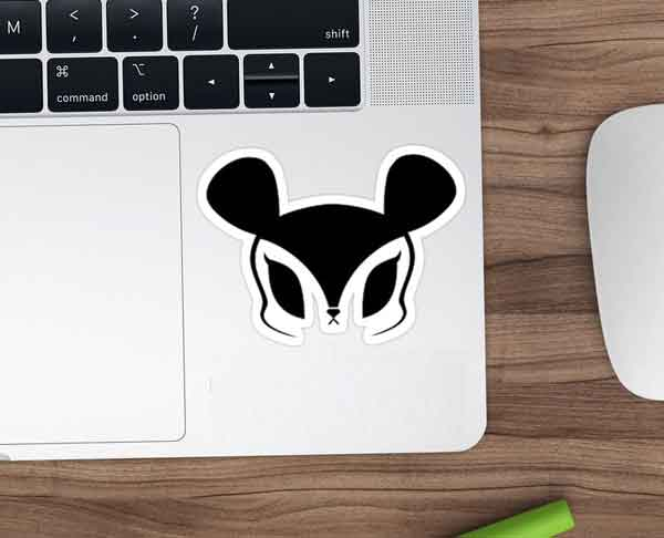 quiz kpop logo band SONAMOO macbook sticker image