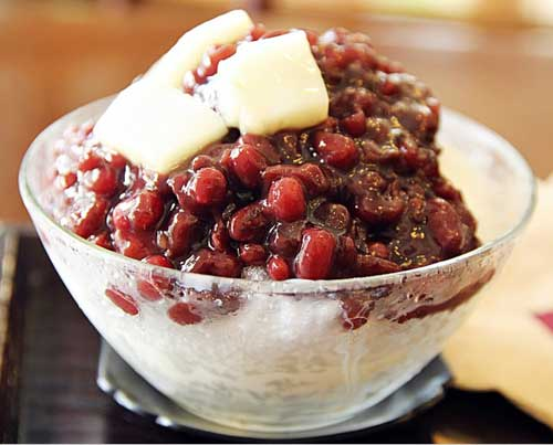 "Tebak Nama Makanan ""Street Food"" Korea dari Gambar - patbingsu es serut kacang merah kroea image"