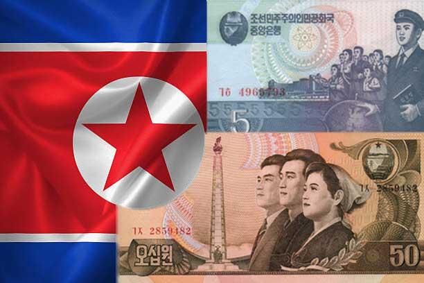 bendera dan lambang mata uang korea utara image