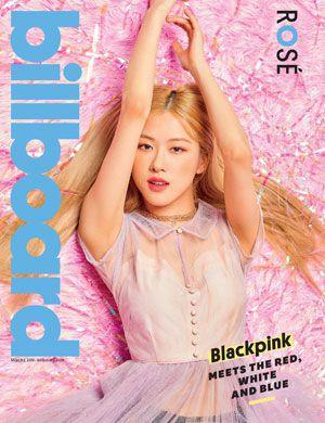 foto rose blackpink model cover majalah billboard