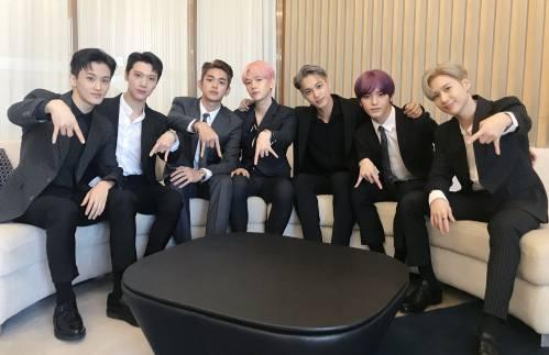 foto persiapan tour member grup kpop super m