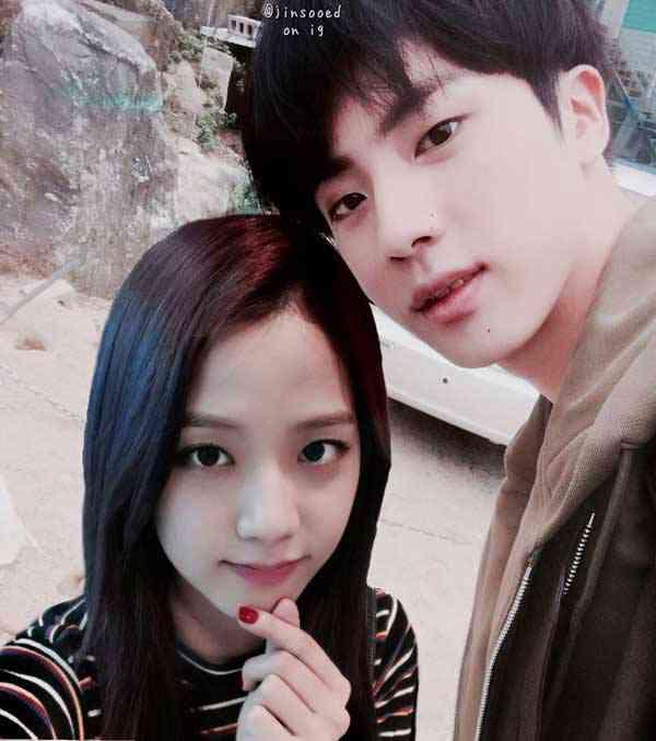 foto black pink jisoo dan pacarnya jin bts jinsoo couple