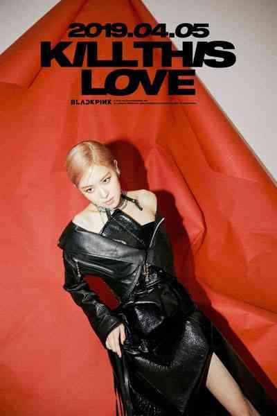 foto profil rose black pink photoshoot cover album kill this love