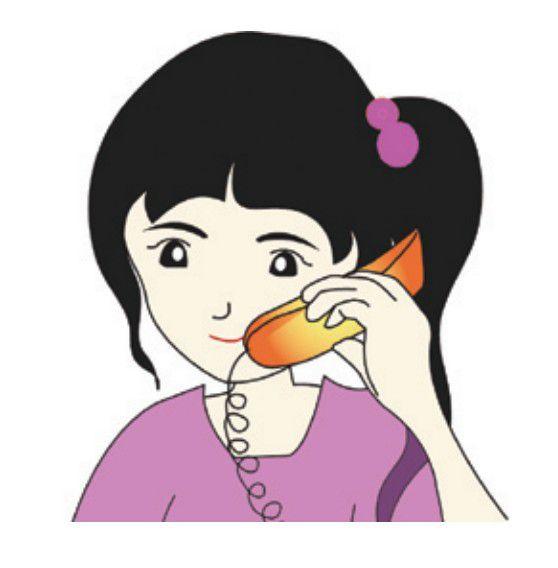 soal-tes-bahasa-korea-terbaru - gambar kartun korea - percakapan telpon bahasa korea halo jpg