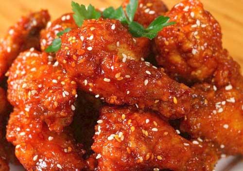 yangnyeom tongdak makanan korea ayam goreng manis jpg