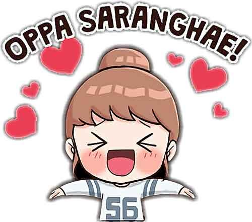 tulisan korea hangul saranghae img