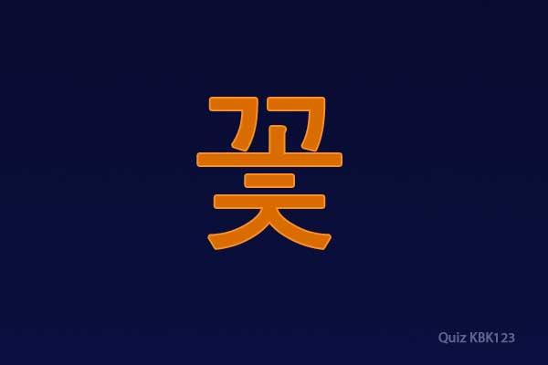 tulisan korea bunga - bahasa koreanya bunga